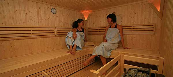 Sauna all'albergo di Marco Poloo